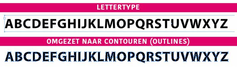 Fonts omzetten in outlines